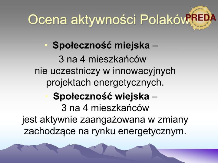 Ocena aktywności Polaków