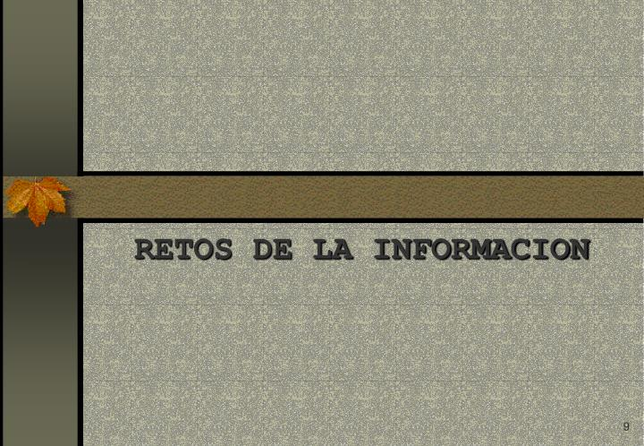 RETOS DE LA INFORMACION