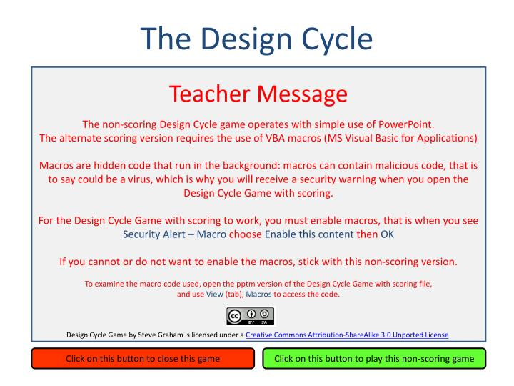 Teacher Message