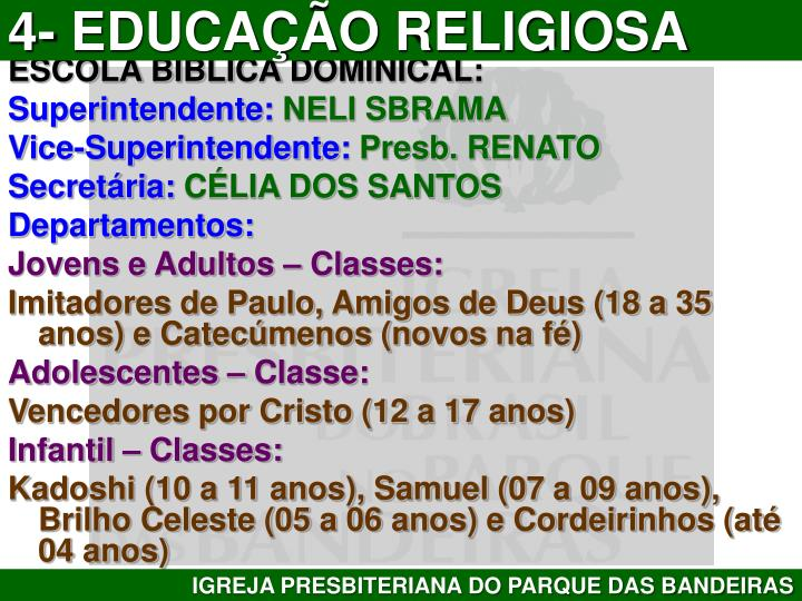 4- EDUCAÇÃO RELIGIOSA