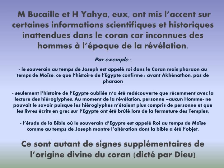M Bucaille et H