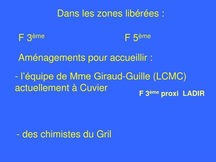 - l'équipe de Mme Giraud-Guille (LCMC) actuellement à Cuvier