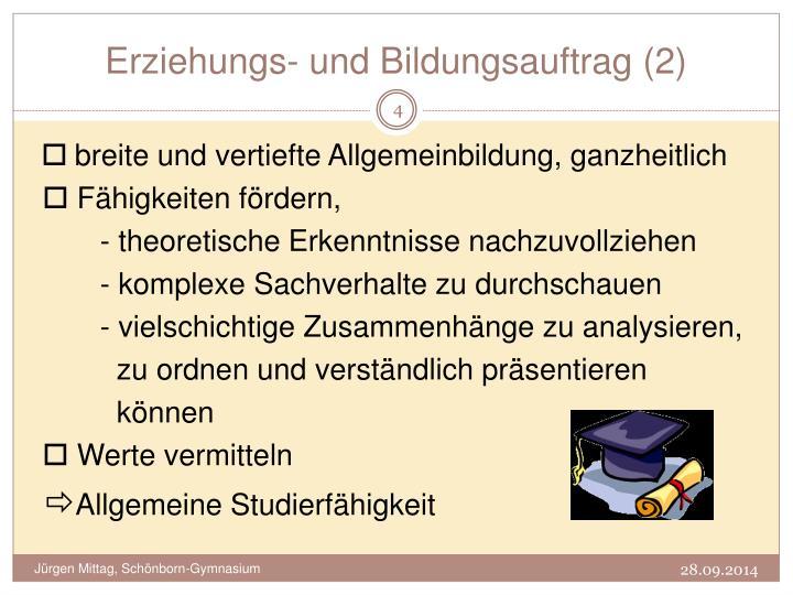 Erziehungs- und Bildungsauftrag (2)