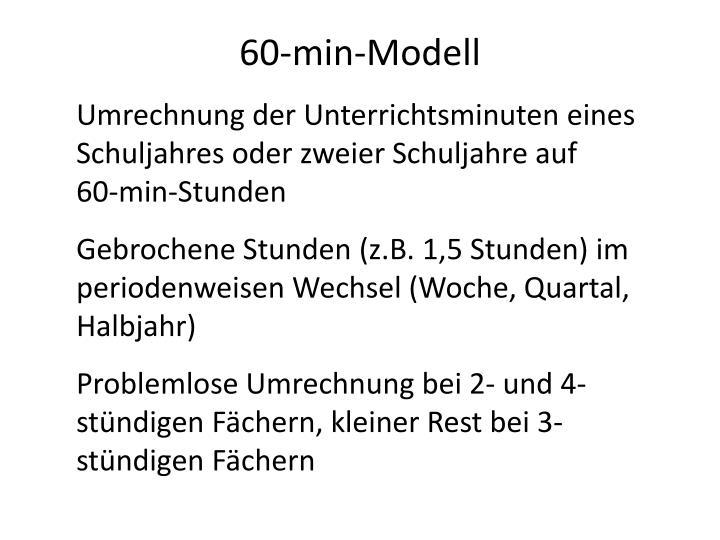 60-min-Modell