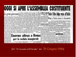 da il giornale dell emilia del 25 giugno 1946