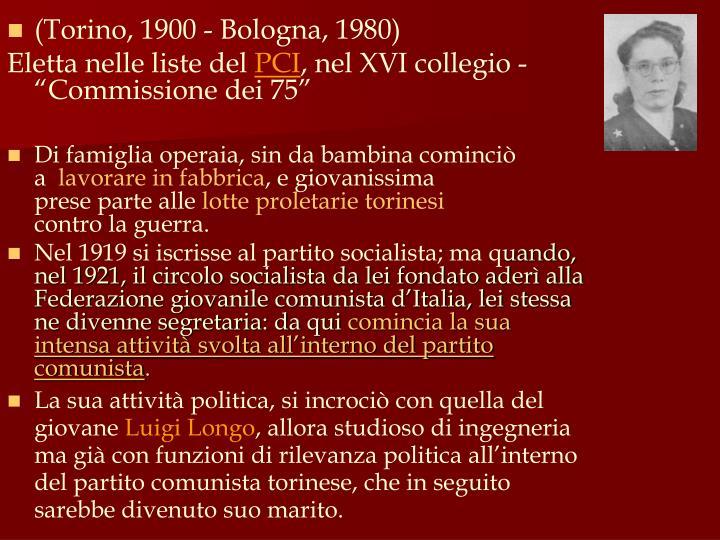 (Torino, 1900 - Bologna, 1980)
