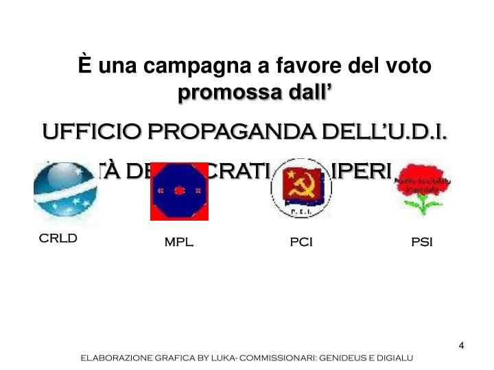 una campagna a favore del voto