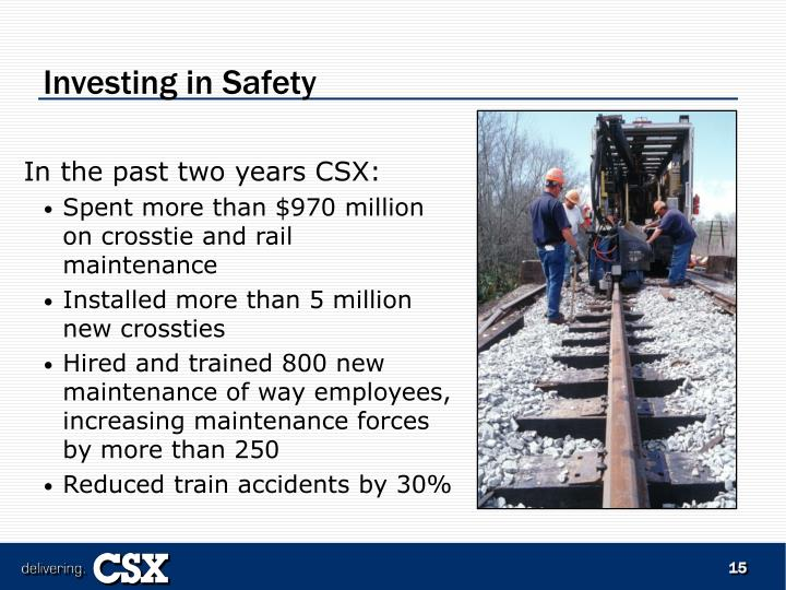 Investing in Safety