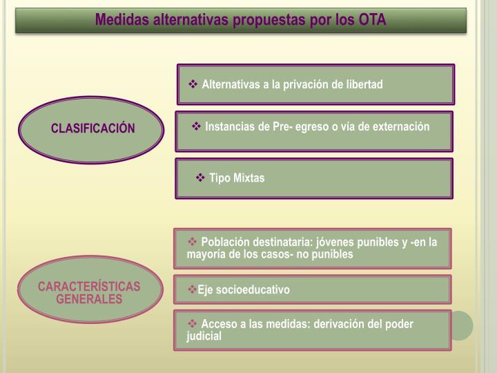 Medidas alternativas propuestas por los OTA