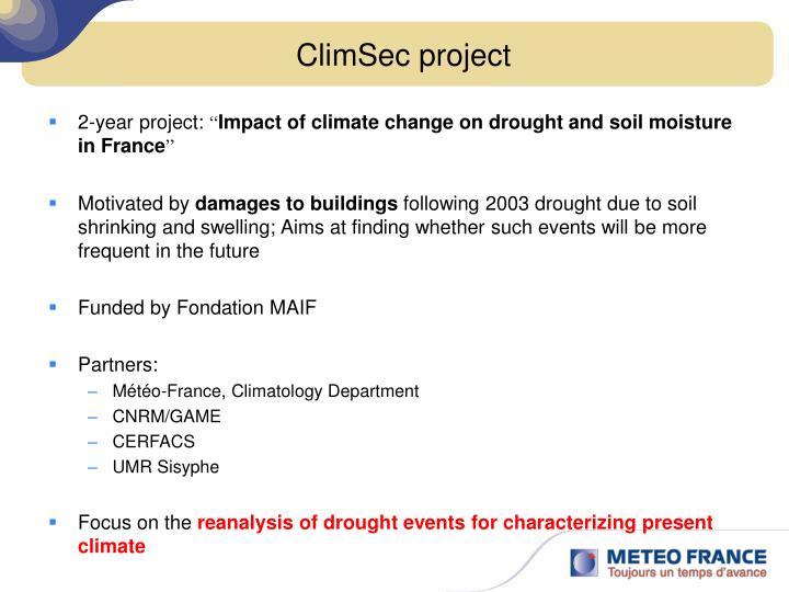 ClimSec project
