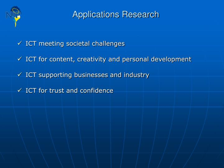 Applications Research