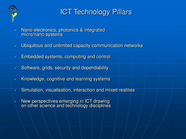ICT Technology Pillars