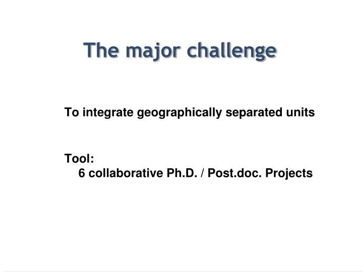 The major challenge