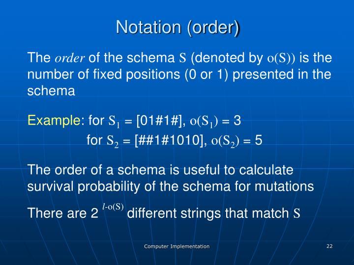 Notation (order)