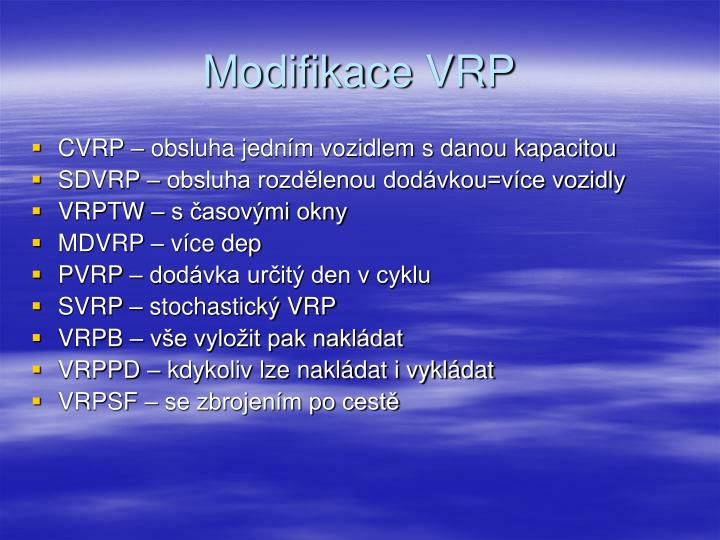 Modifikace VRP
