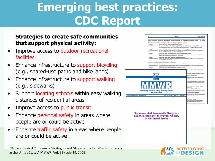 Emerging best practices: