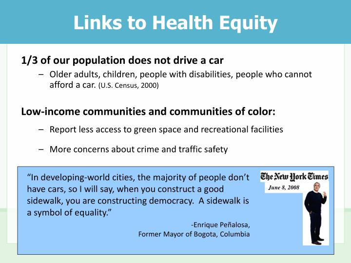 Links to Health Equity