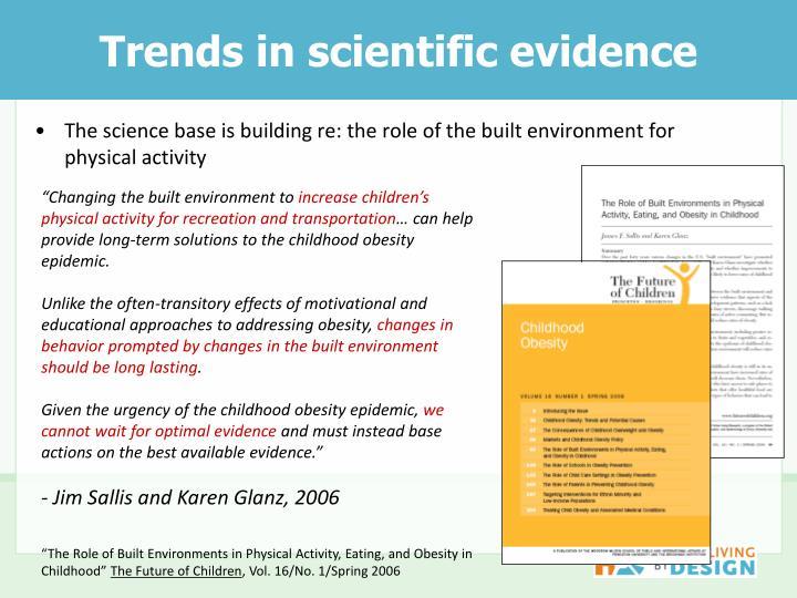 Trends in scientific evidence