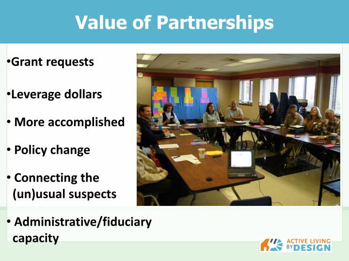 Value of Partnerships
