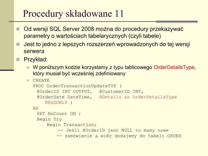 Procedury składowane 11