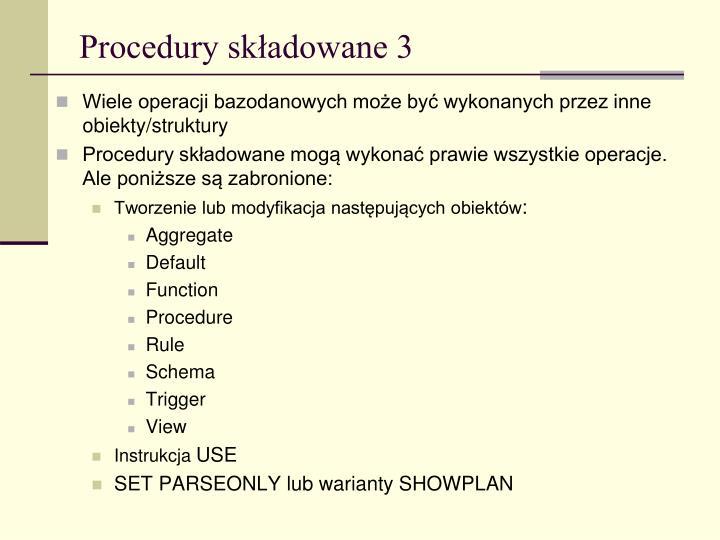 Procedury składowane 3