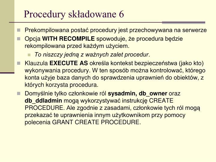 Procedury składowane 6