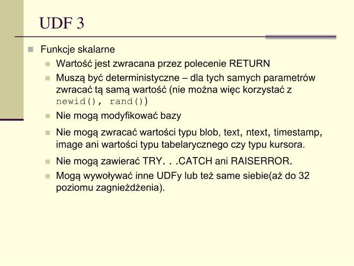 UDF 3