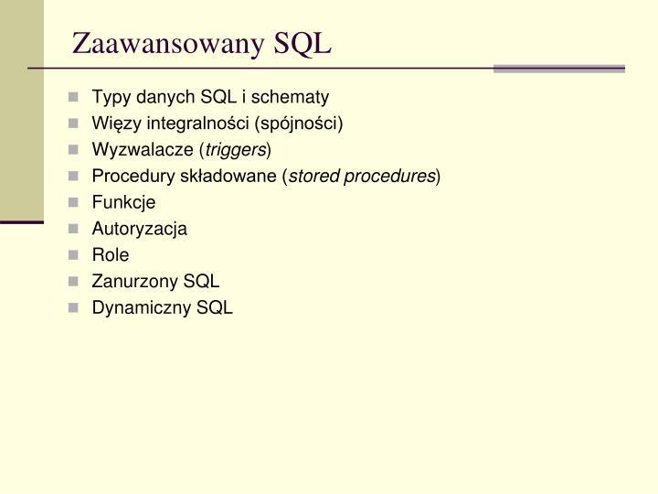 Zaawansowany SQL
