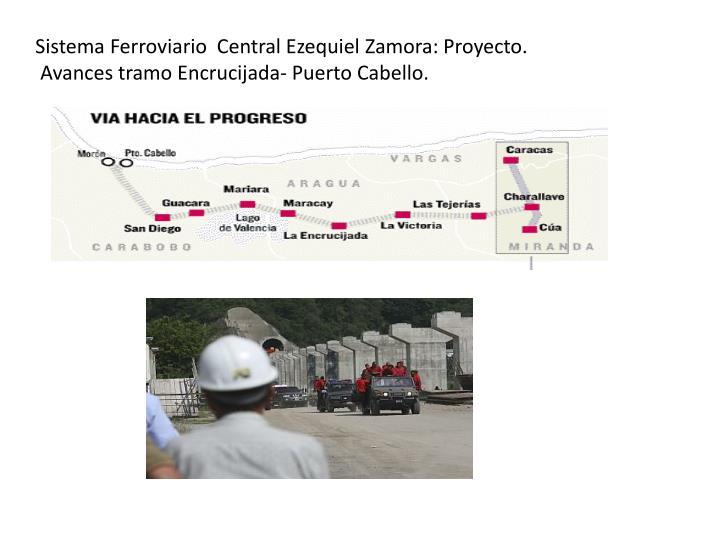 Sistema Ferroviario  Central Ezequiel Zamora: Proyecto.