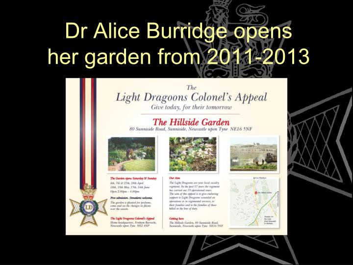 Dr Alice Burridge opens