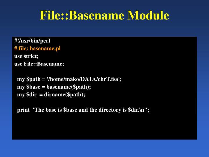 File::Basename Module
