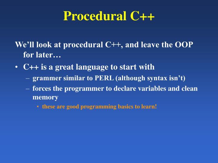 Procedural C++