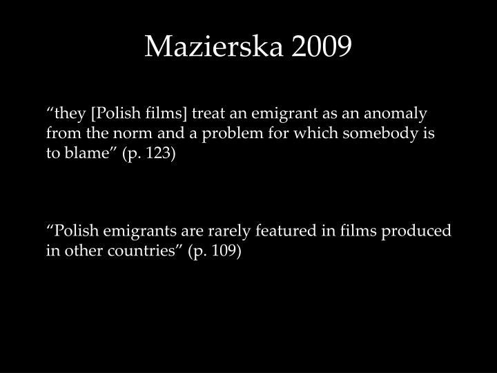Mazierska 2009