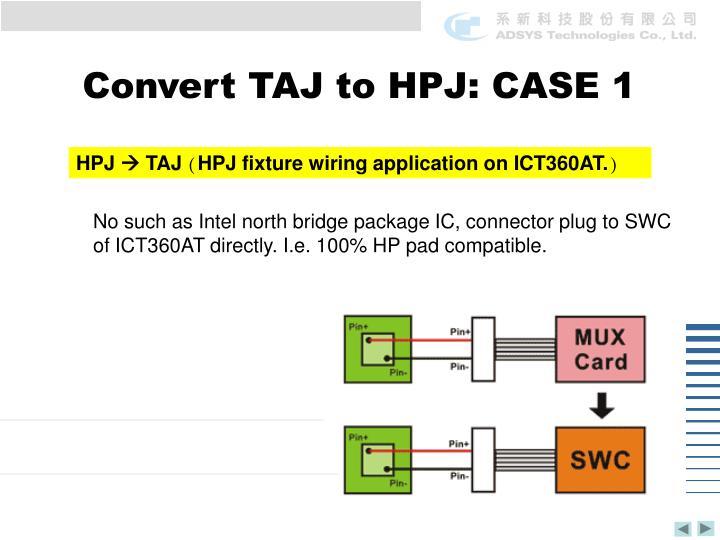 Convert TAJ to HPJ: CASE 1
