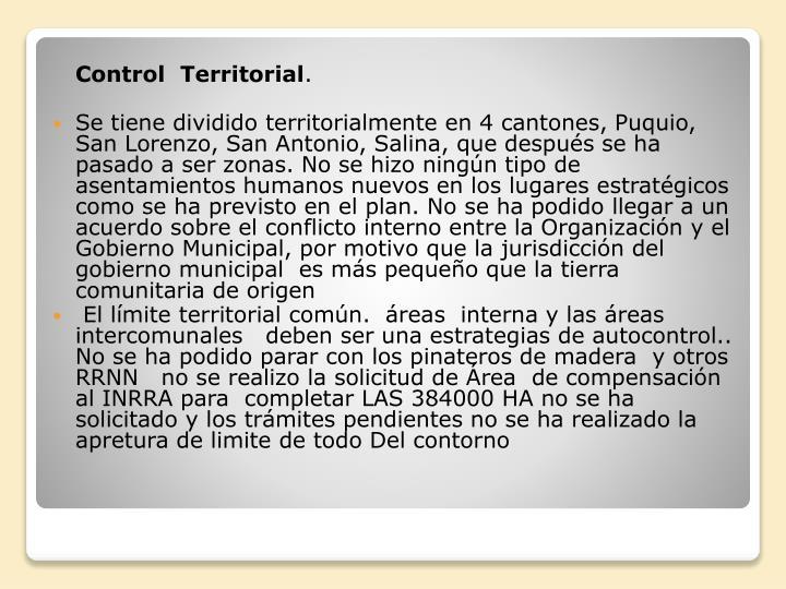Control  Territorial