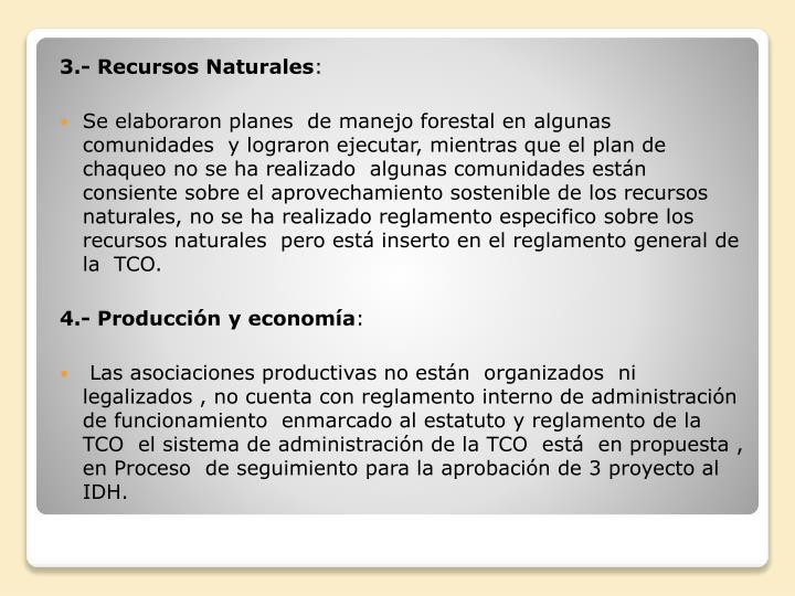3.- Recursos Naturales