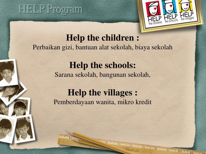 Help the children :
