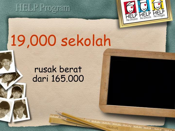 19,000 sekolah