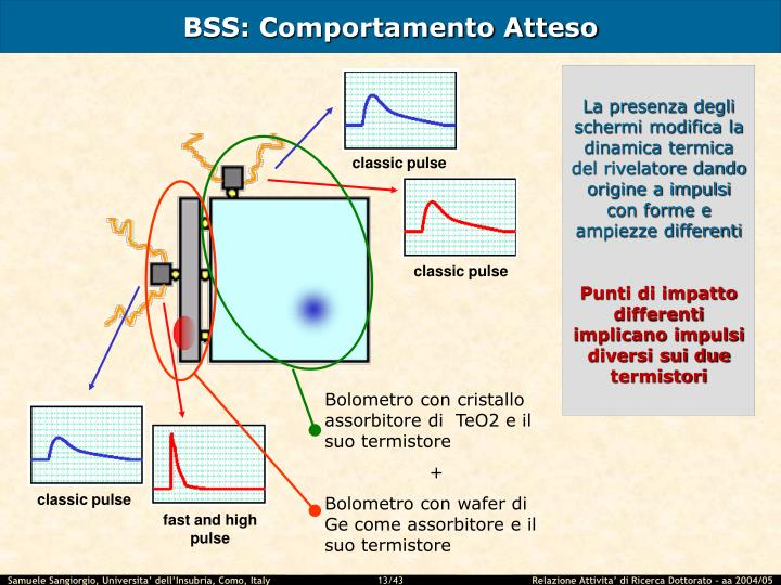 BSS: Comportamento Atteso
