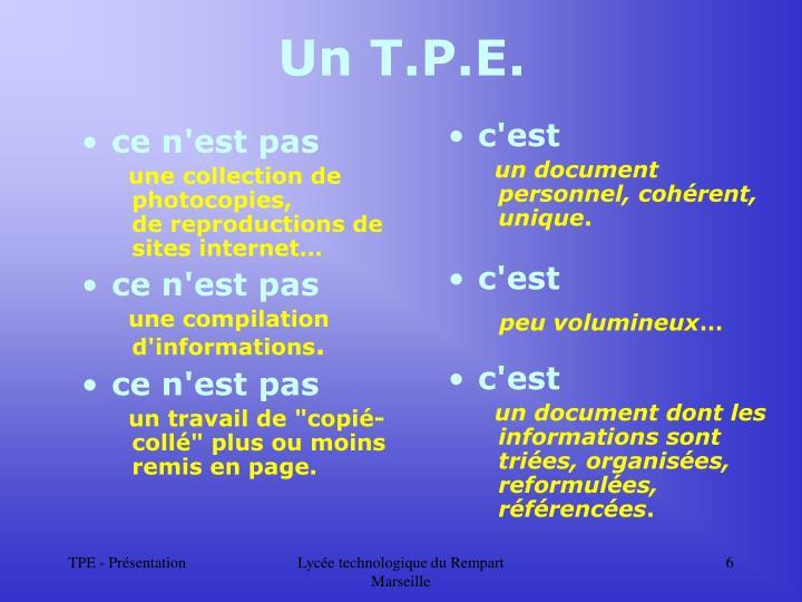 Un T.P.E.