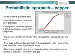 probabilistic approach copper