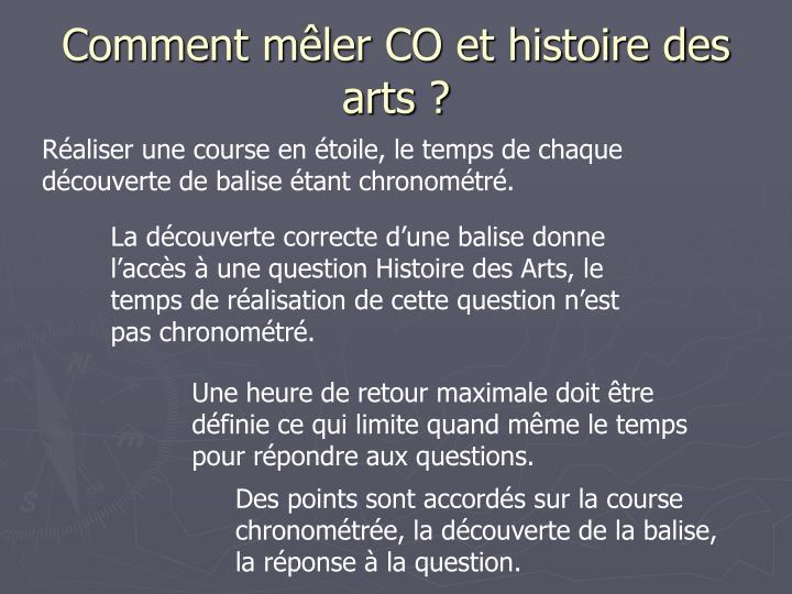 Comment mêler CO et histoire des arts ?