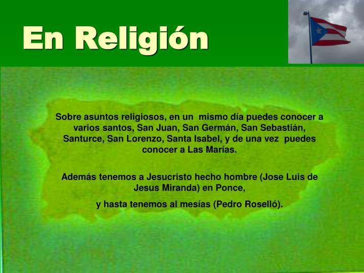 En Religión