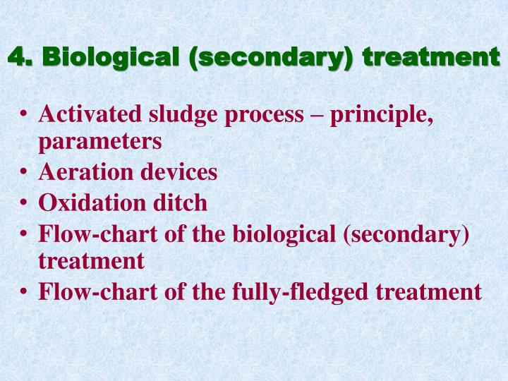 4 biological secondary treatment