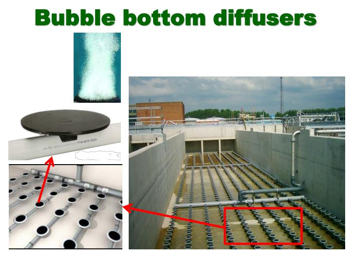 Bubble bottom diffusers