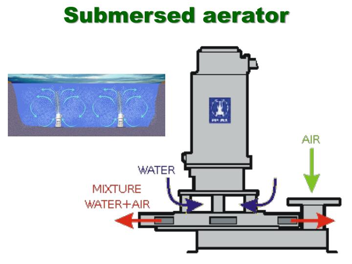 Submersed aerator