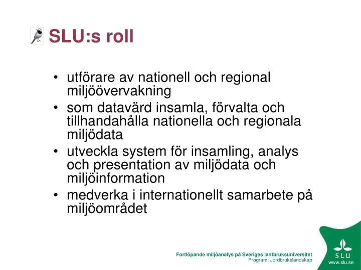 SLU:s roll