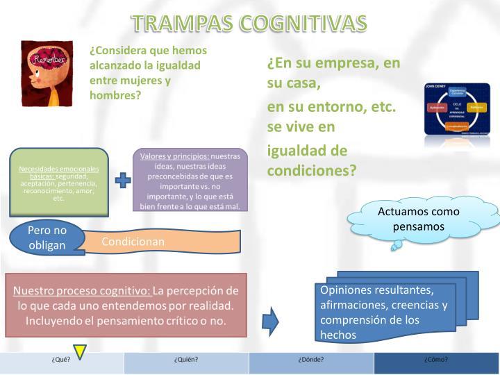 TRAMPAS COGNITIVAS