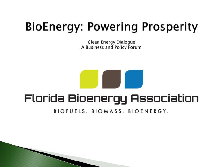 Bioenergy powering prosperity clean energy dialogue a business and policy forum