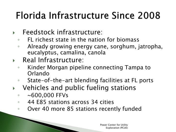 Florida Infrastructure Since 2008